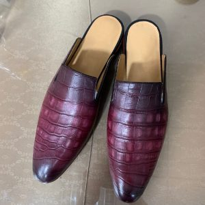 Mens Stylish Genuine Leather Slippers