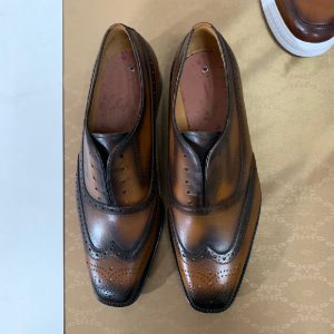 Hand Made Goodyear Welted Oxfords Men Leather Shoes