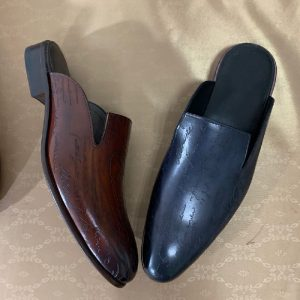 New Style Top Grade Goodyear Mens Leather Slipper