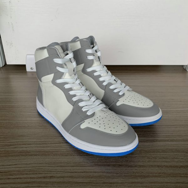 Grey and Beige High Top AJ style Sneakers MBS101