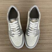 Grey and Beige Low Top AJ style Sneakers MBS102