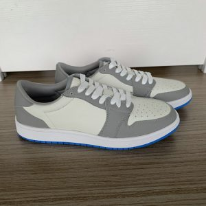 Grey and Beige Low Top AJ style Sneakers MBS102