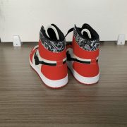 Red and Beige High Top AJ style Sneakers MBS104
