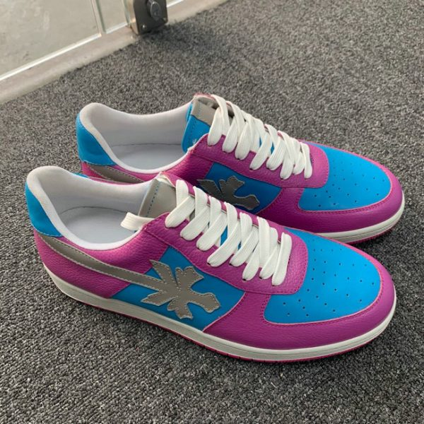 Blue and Red Low Top AF style Sneakers MBS103