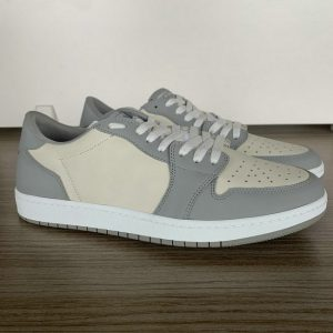 Grey and Beige Low Top AJ style Sneakers MBS108