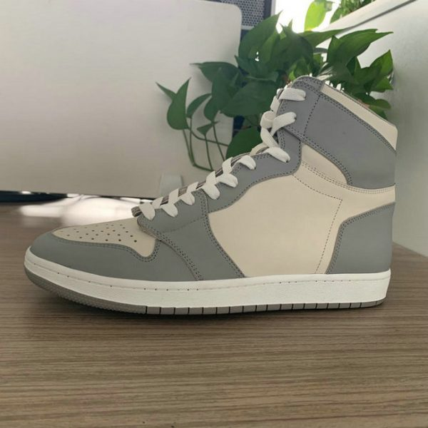 Grey and Beige High Top AJ style Sneakers 2015 Shape MBS106