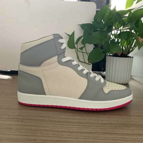 Grey and Beige High Top AJ style Sneakers 2015 Shape MBS107